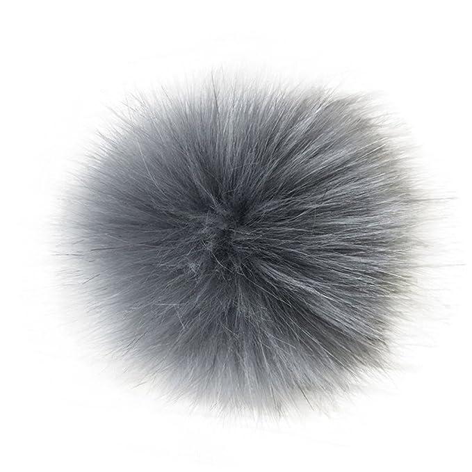 10cm Faux Fur PomPom DIY Car Handbag Keychain Fluffy Ball Pendant Fashion UK