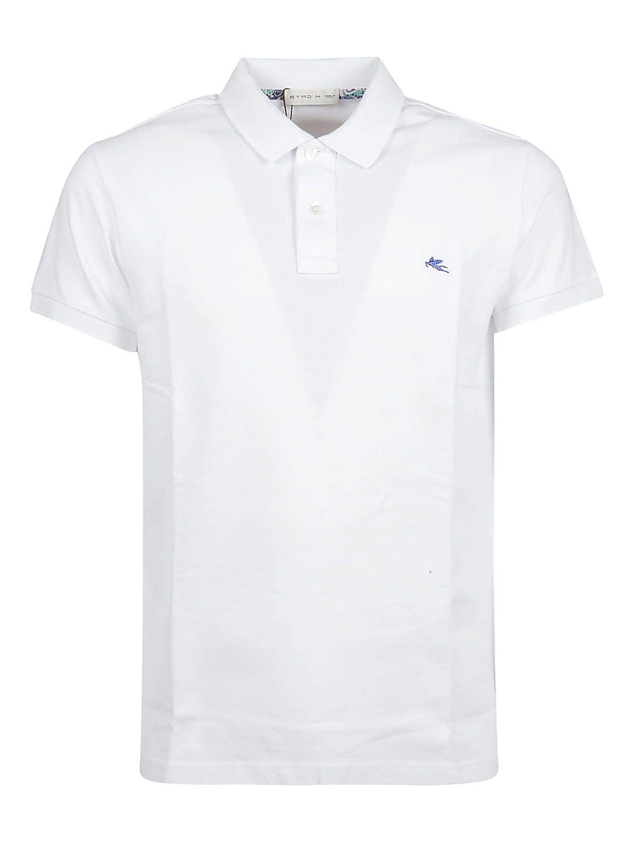 Brand Size L ETRO Men's 1Y1409480990 White Cotton Polo Shirt