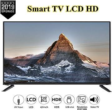 Wendry Smart TV HD LCD de 43 Pulgadas 1920 * 1080, TV 4K de edición en línea Multifuncional, admite Cable de Red + WiFi inalámbrico Ultra HD TV(UE): Amazon.es: Electrónica