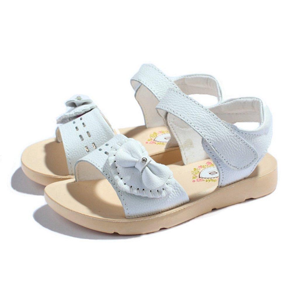 CYBLING Open Toe Sandals for Girls Summer Outdoor Flat Bowknot Beach Sport Shoes (Toddler/Little Kid)