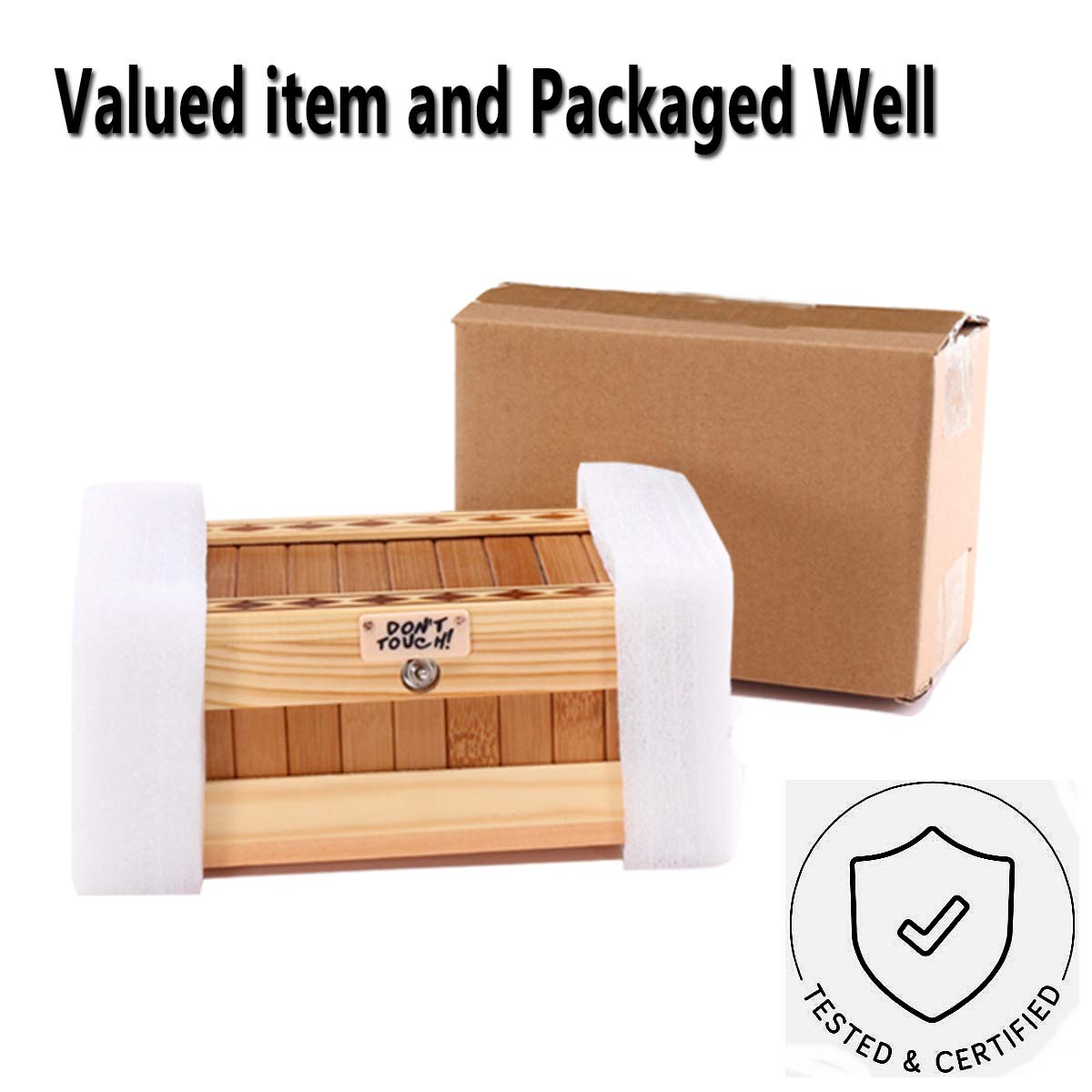 EASTBULL Useless Box Dont Touch Wooden Useless Box or Useless Machine Do Nothing Box Cute Tiger Pointless Box Fully Assembled Toys as Gift for Stress-Release and Perfect for Home & Office Desk