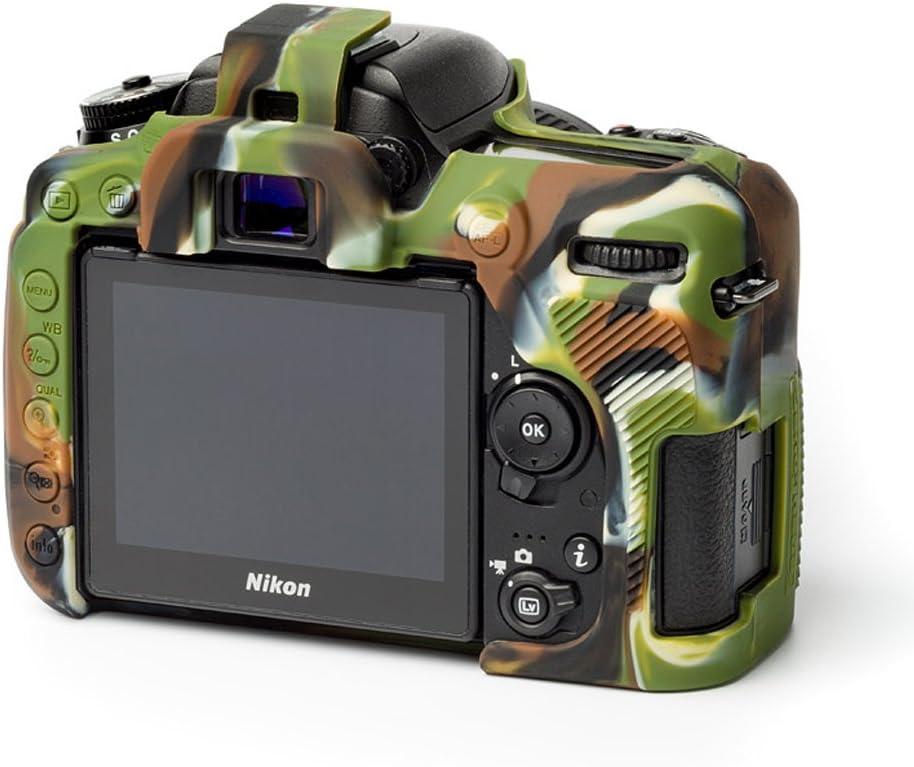 COPERTURA in silicone per fotocamera Nikon D7500 Proteggi Schermo Mimetica