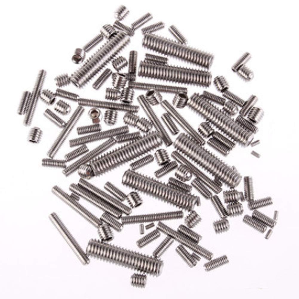 Metal Acero Inoxidable Hex/ágono Interior Tornillo Sin Cabeza Manguito Conjunto de Z/ócalo Yudesun Tornillo Prisionero M1.6 M2 M2.5