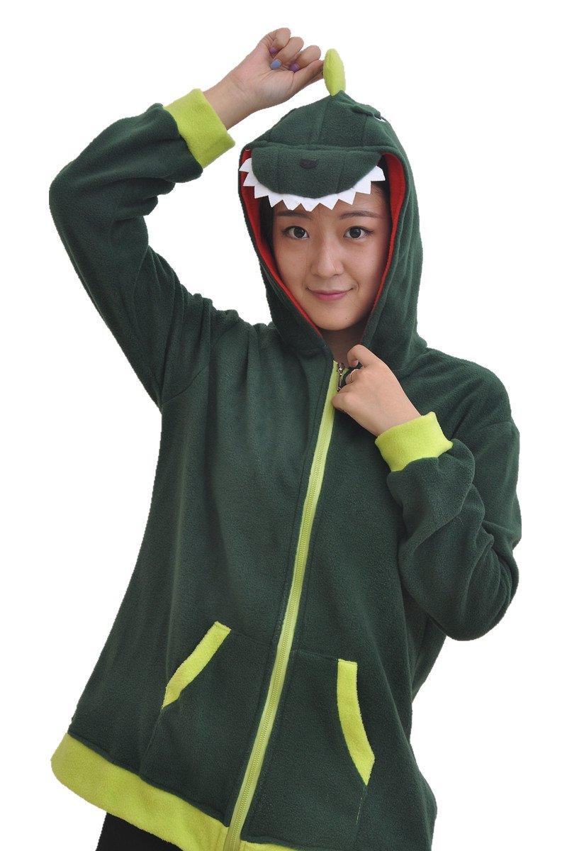 Dinosaur Costume Cosplay Anime Hoodie Sweatshirt M