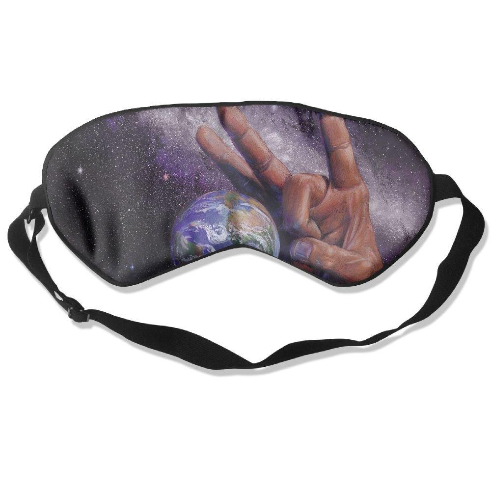 Sleep Mask Fun Earth Eye Cover Blackout Eye Masks,Soothing Puffy Eyes,Dark Circles,Stress,Breathable Blindfold