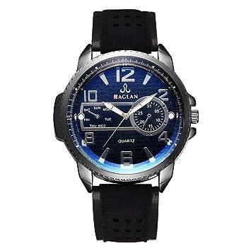 Longra Relojes clásicos para Hombres, Relojes a la Moda para Hombres, Cinco Colores para Elegir: Amazon.es: Deportes y aire libre