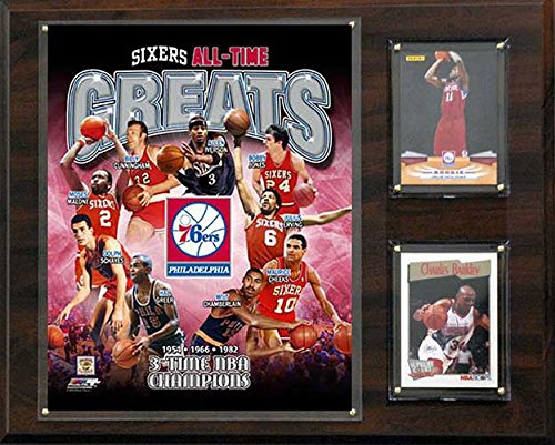 CandICollectables 121576ERSGR NBA 12 x 15 in. Philadelphia 76ers All-Time Great Photo Plaque from CandICollectables