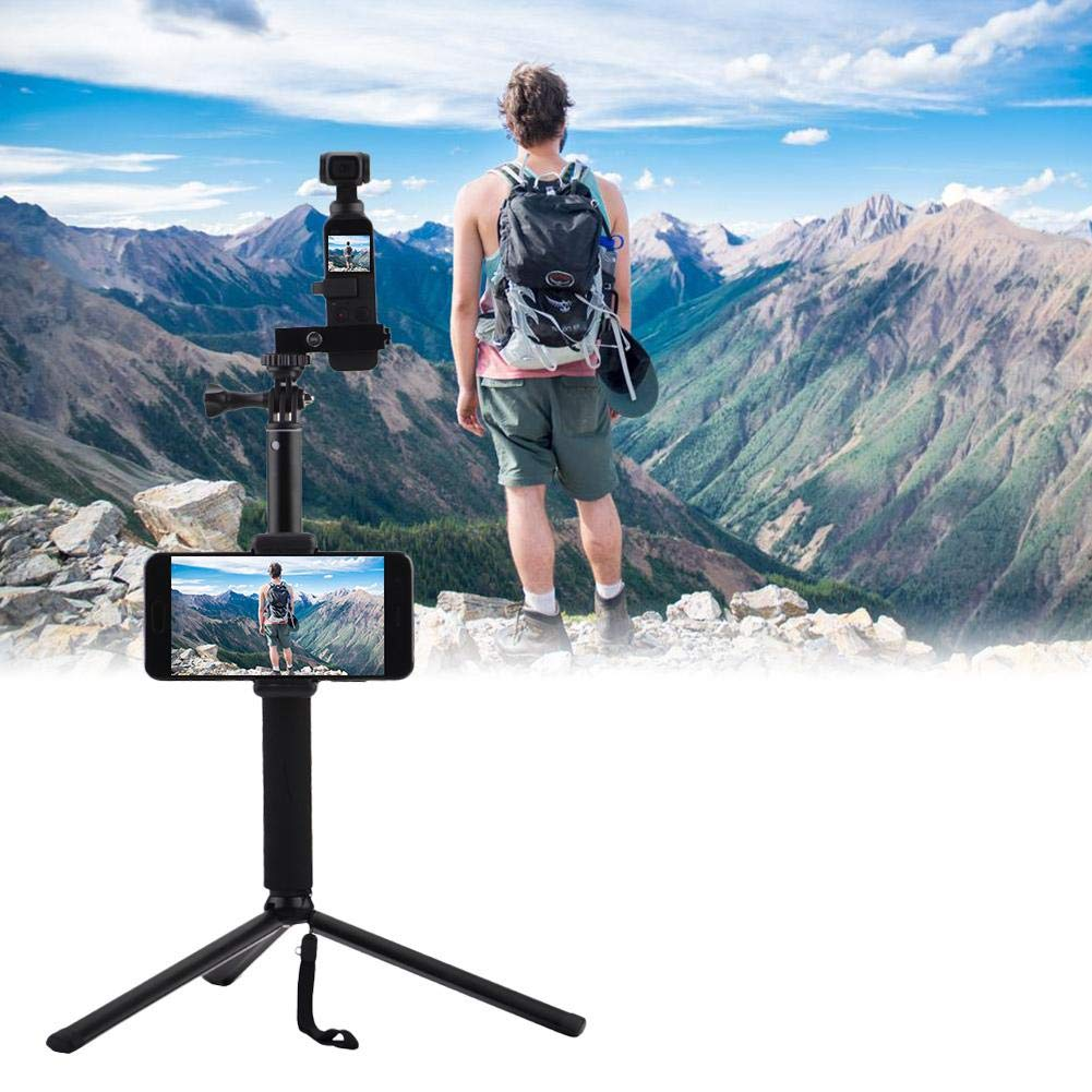 wonderfulwu Wonfulwu Perche /à Selfie en Alliage daluminium pour t/él/éphone Portable DJI Osmo Pocket avec Clip pour t/él/éphone Portable