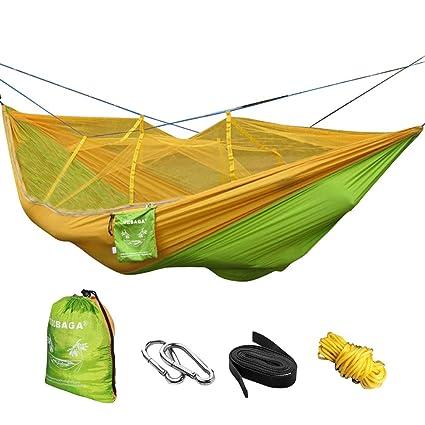 VOBAGA Hamaca con Mosquitera Para 2 Persona,Hamaca Portátil para Camping Jardin Terraza Acampada Viaje