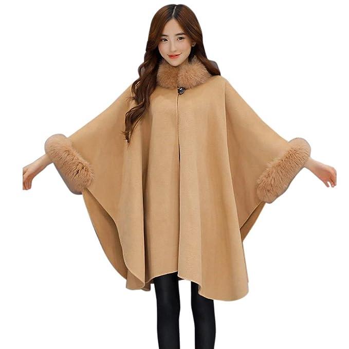 Moda Mujer Chaqueta Casual de Lana Outwear Piel Abrigo Parka Cardigan Capa by Venmo: Amazon.es: Ropa y accesorios