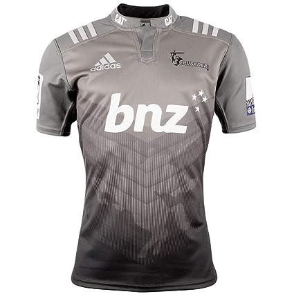 Adidas Canterbury Crus aders visitante./Camiseta de Rugby réplica Gris Black/Dkgrey Talla