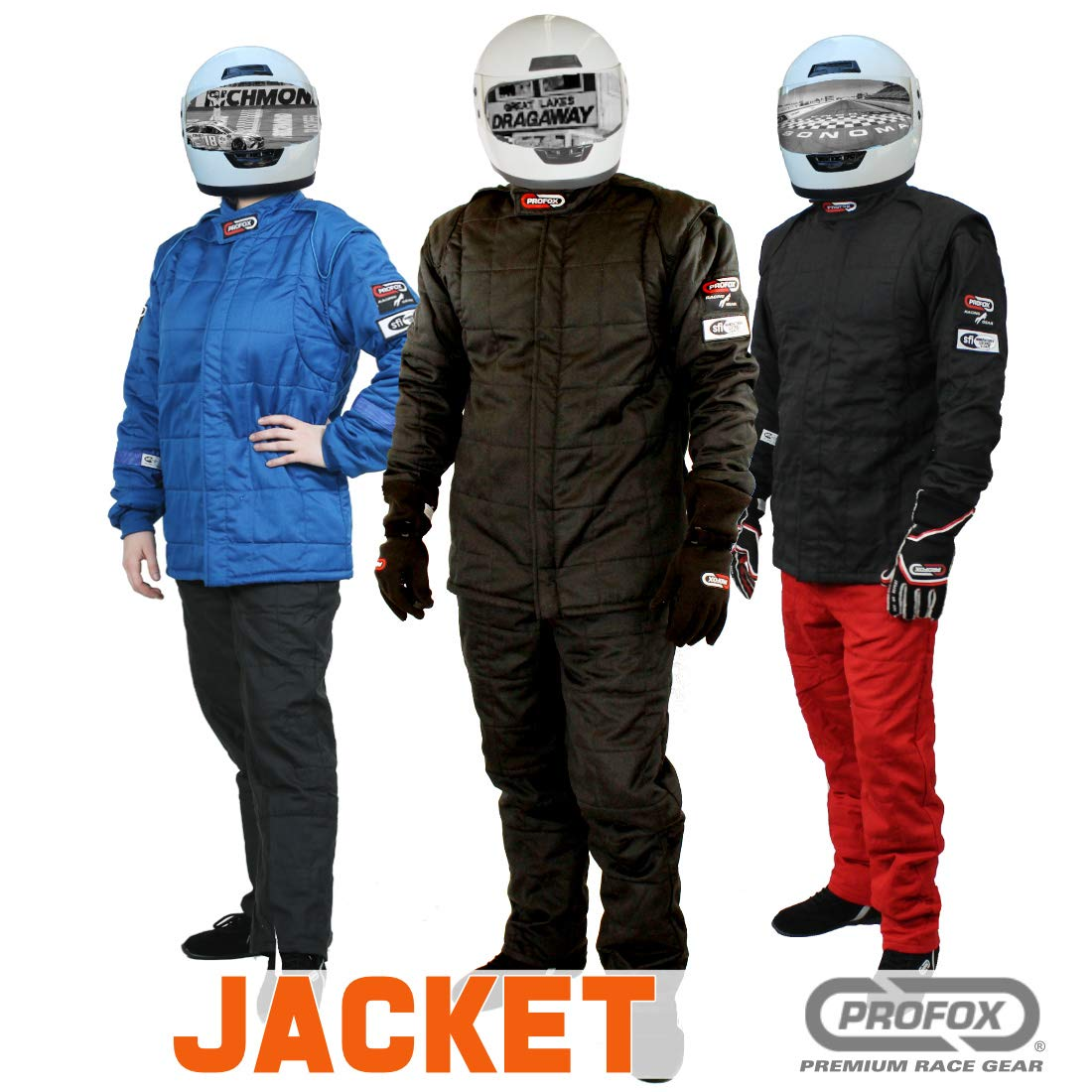 PROFOX-102 Black Medium Jacket Auto Racing Fire Resistant Single Layer SFI 3.2A//1 Racing Fire Suit Jacket only