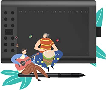 GAOMON Pen Tablet M106K PRO 10 x 6 Tilt Supported 8192 Battery-Free Pen 12 Express Keys + 16 Softkeys Digital Drawing Graphics Tablet for Android Win Mac OS
