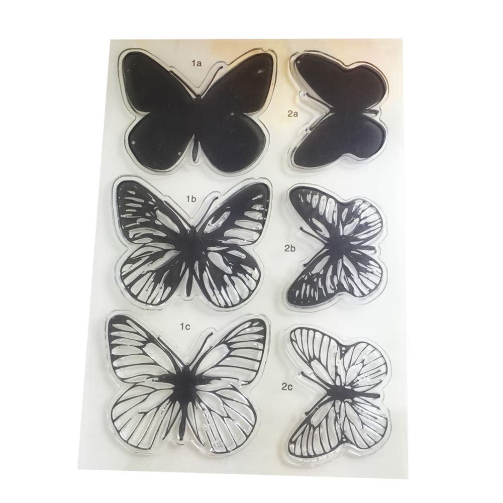 Yevison Premium Quality Butterfly Silicone Clear Stamps Scrapbooking Card Crafts Photo Album DIY Decor Tool