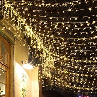 Romantisches himmelbett mit lichterkette  ANKOUJA Lichterkette LED 200er Innen Warmweiss Romantisch ...