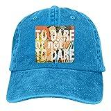 Shenigon ABC Love Poster Vintage Cowboy Baseball Caps Dad Hats RoyalBlue