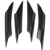 Hlyjoon Spoiler de l/èvre de Pare-Chocs Avant refit Noir Brillant pour s/éparateur de Style Maxton adapt/é pour MK7//MK7.5 GTD R 2