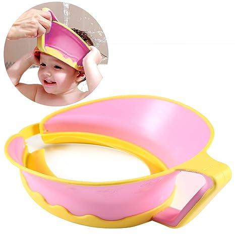 83394a350237e ONEDONE ajustable Champú de baño ducha Protect Cap Visera Sombrero para bebé  Niños Niños Adultos azul