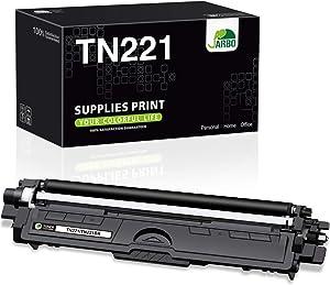 JARBO Compatible Toner Cartridge Replacement for Brother TN221 TN-221 Black Toner Cartridges, 1 Black, for Brother HL-3140CW HL-3170CDW HL-3180CDW MFC-9130CW MFC-9330CDW MFC-9340CDW Laser Printer