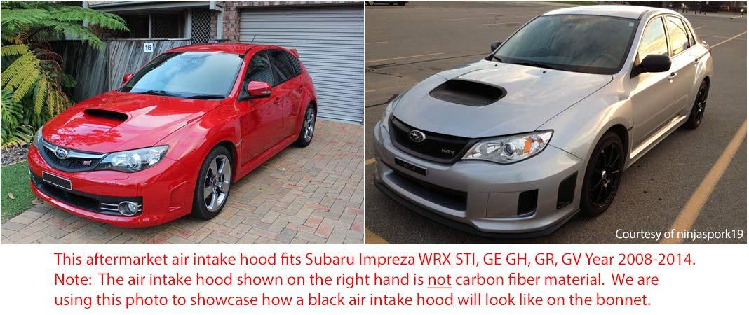 tunez Carbon Fiber Air Hood Scoop Intake Vent Bonnet for Sport Subaru WRX STI GE GH 2008-2011 GR