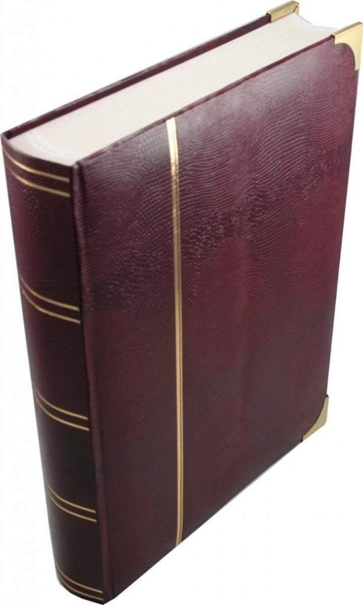 Wessex Burgundy Luxury White Page Stamp Album / Stockbook A4 Size, 32/64 .