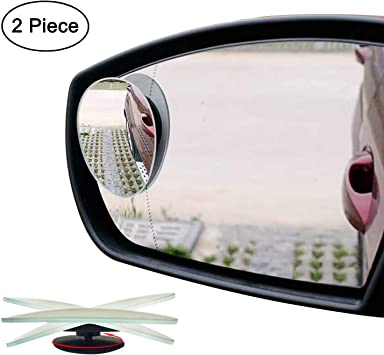 2x 360° Car Blind Spot Mirror Round Adhesive Easy Fit Wide View Angle Van Asist