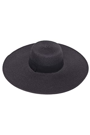 Womens Wide Brim Floppy Sun Hat - Black at Amazon Women s Clothing ... 44fd9e54286