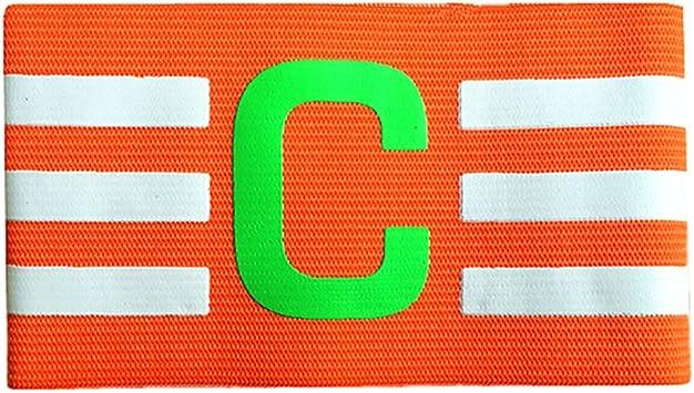 Binglinghua® - Brazalete de capitán de fútbol con Velcro y diseño antigotas para Adultos y jóvenes, Paquete de, Anaranjado: Amazon.es: Deportes y aire libre