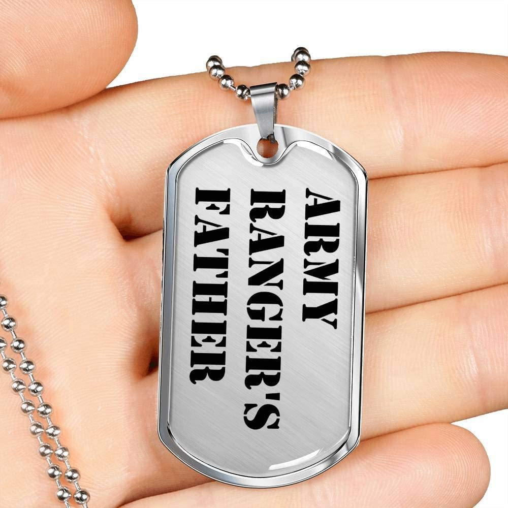 Luxury Dog Tag Necklace Unique Gifts Store Army Rangers Father