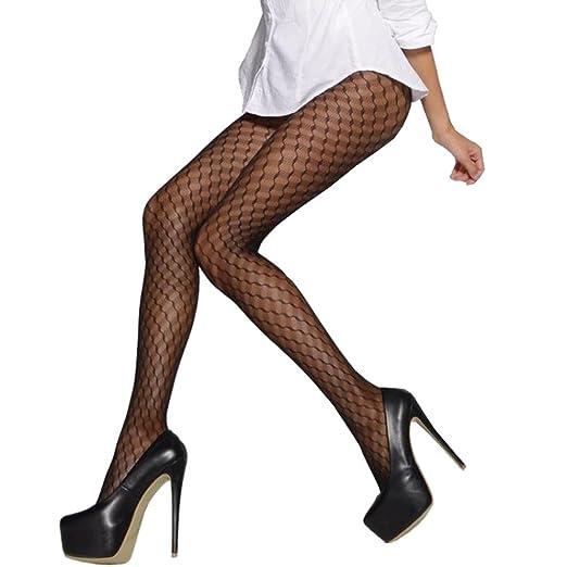 e75d28f3eab LinvMe Women s Sexy Pattern Jacquard Pantyhose Tights Stockings Big Circle