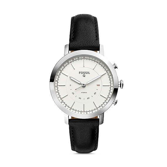 Fossil FTW5008 - Reloj Inteligente híbrido (Piel), Color Negro: Amazon.es: Relojes