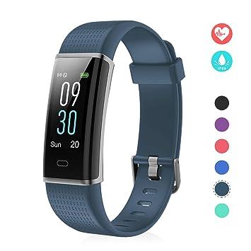EFO SHM Fitness Tracker mit Pulsmesser, Schrittzähler Uhr Fitness Armband Wasserdicht Schwimmen Aktivitätstracker Schlafanaly