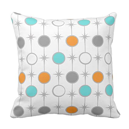 Amazon Emvency Throw Pillow Cover Retro Dots And Starbursts Classy Starburst Decorative Pillow