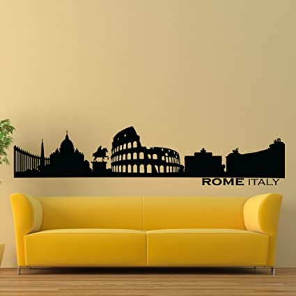 Vinyl Wall Decals Rome Italy Skyline City Silhouette Sticker Home ...
