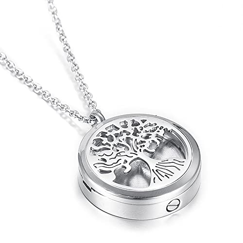 amazon tree of life memorial urn necklace for pet human ashes Compact Oil Diffuser tree of life memorial urn necklace for pet human ashes holder necklace essential oil