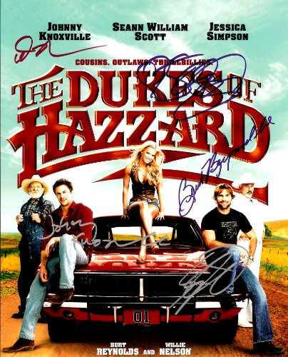 Jessica Simpson in The Dukes of Hazzard Cast Signed Autographed 8 X 10 Reprint Photo - Mint (The Dukes Of Hazzard Cast)