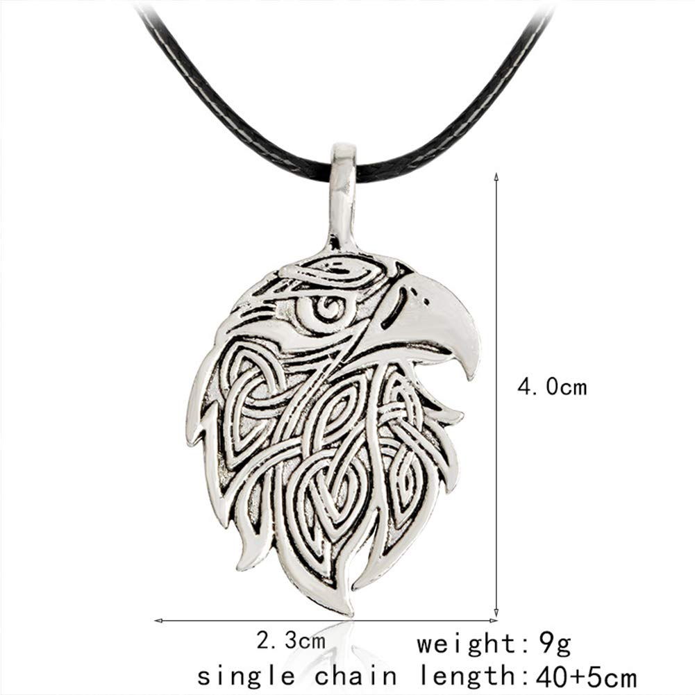 Mens and Womens Couples Pagan Celtic Accessories LH/&BD Viking Necklace Nordic Pirate Viking Series Fox Wolf Eagle Amulet Pendant
