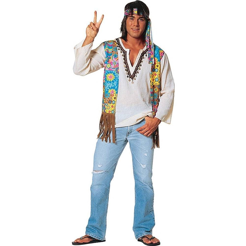 sc 1 st  Amazon.com & Amazon.com: 60s Hippie Dude - Standard - Chest Size 36-40: Clothing