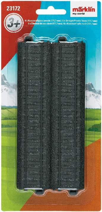 Spur H0 Inhalt: 6 Gleise M/ärklin my world 23172 Kunststoffgleise gerade 172 mm