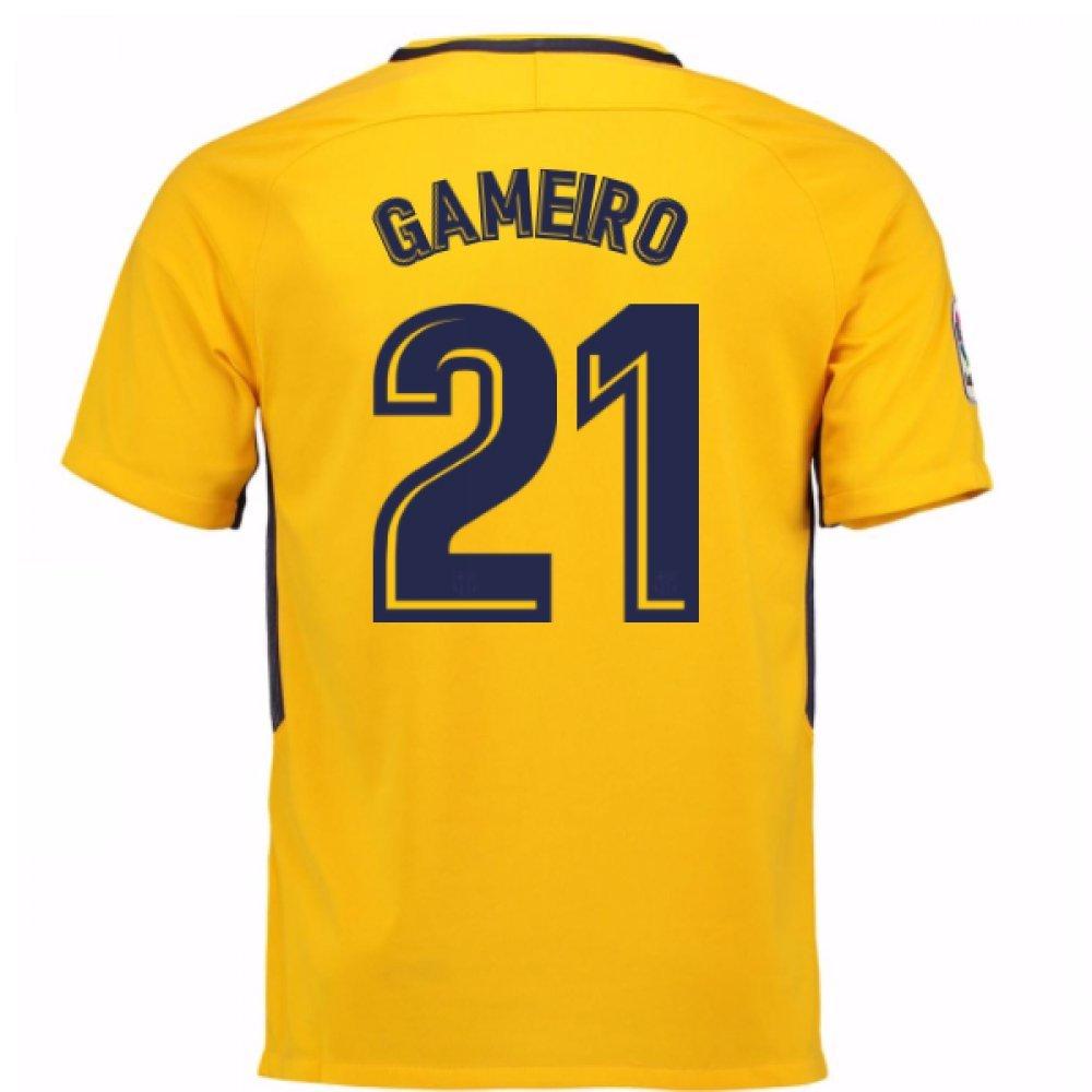 2017-18 Atletico Madrid Away Football Soccer T-Shirt Trikot (Kevin Gameiro 21) - Kids