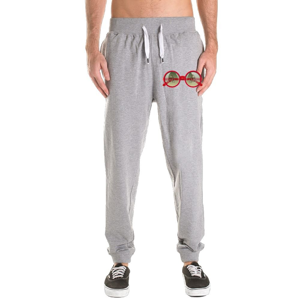FERNANDO HUNG Book Sloth In Glasses Men's Athletic Sweatpants Drawstring Closure Shut Side Pockets Jogger Pants by FERNANDO HUNG