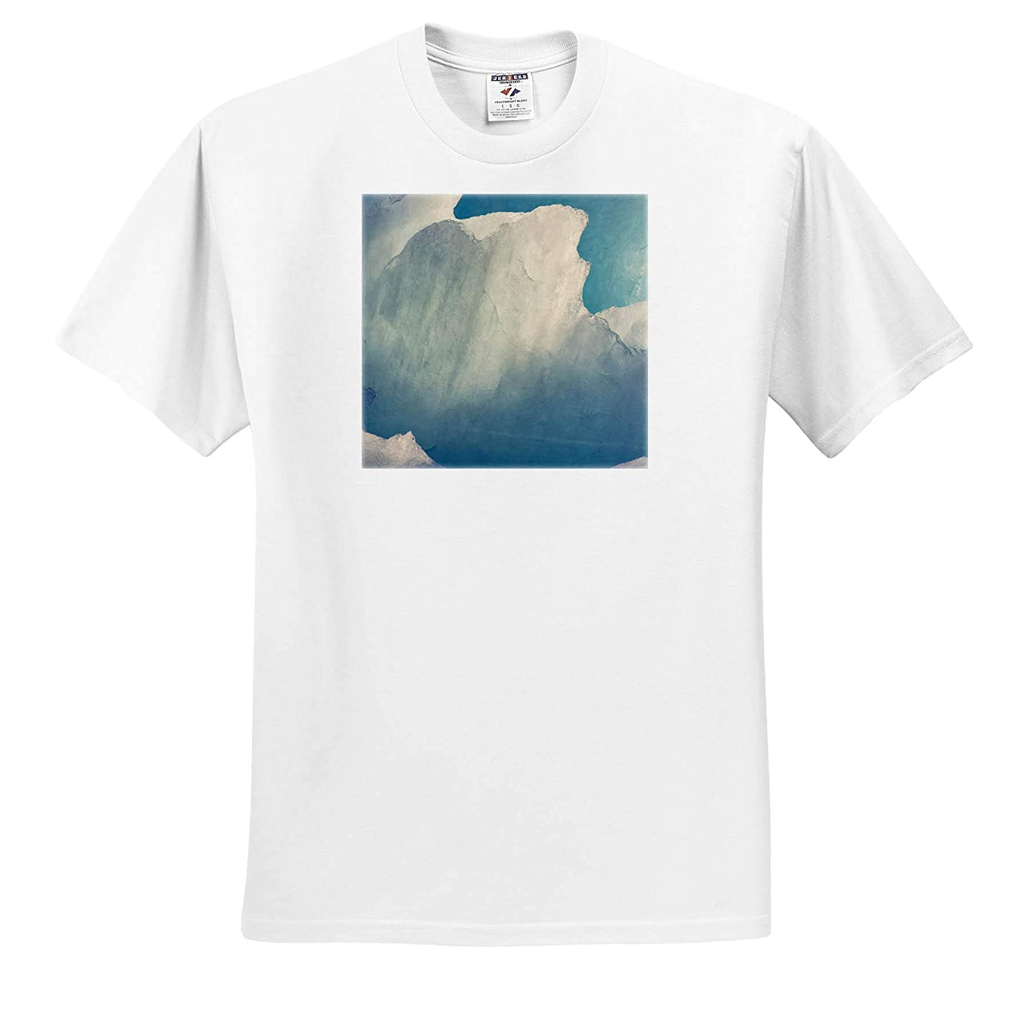 Closeup of Patterns in Icebergs in Greenland - Adult T-Shirt XL 3dRose Danita Delimont Natural Patterns ts/_313888