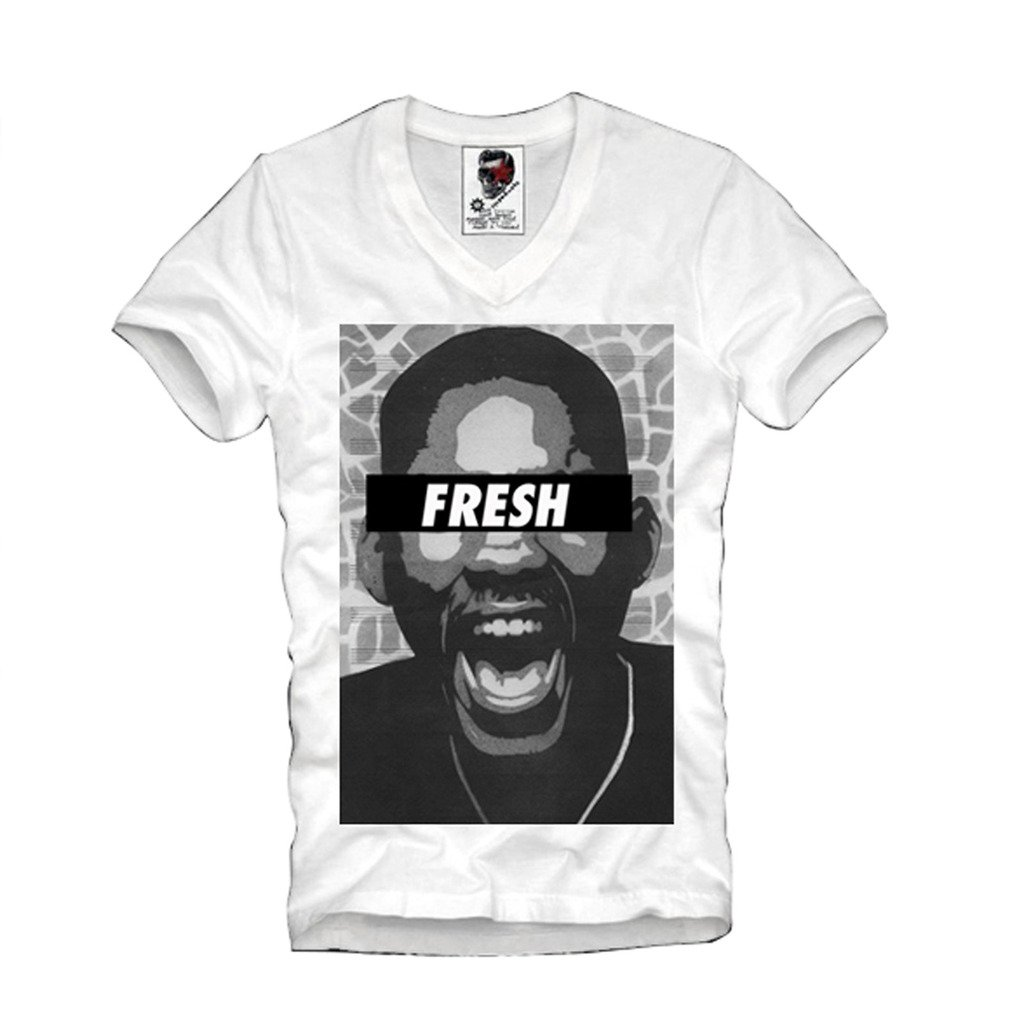 E1Syndicate V-NECK T-SHIRT FRESH PRINCE OF BEL AIR WILL SMITH HYPE