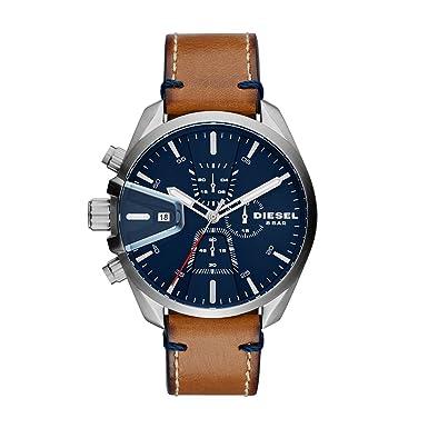 607fe2f03f5 Diesel Reloj Cronógrafo para Hombre de Cuarzo con Correa en Cuero DZ4470   Amazon.es  Relojes