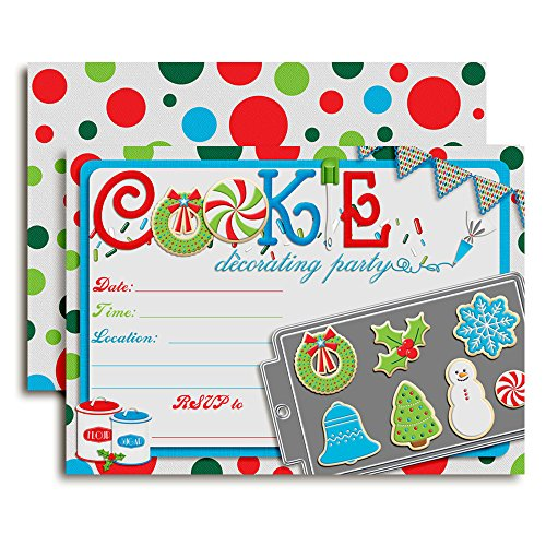 - Christmas Cookie Baking and Decorating Party Invitations, 20 5