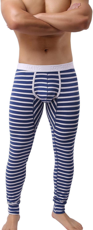 KAMUON Men/'s Cotton Pouch Underwear Long Johns Thermal Pants Bottoms Leggings