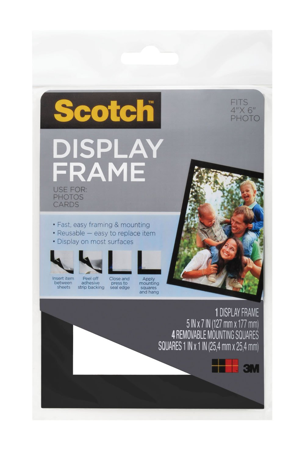 Amazon.com : Scotch Display Frame with Four Removable Mounting ...