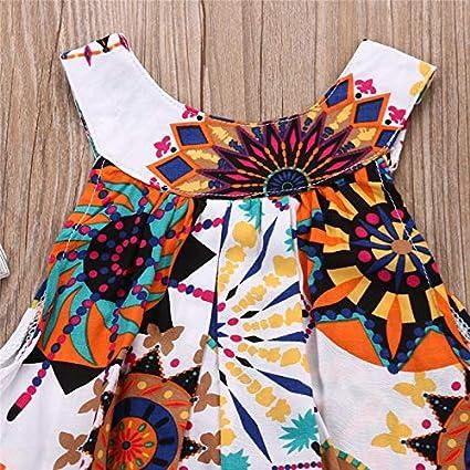 Seyurigaoka 2-7Y Toddler Kids Baby Girl Clothes Bohemian Sleeveless Dress African Dashiki Tutu Sundress Summer Outfits