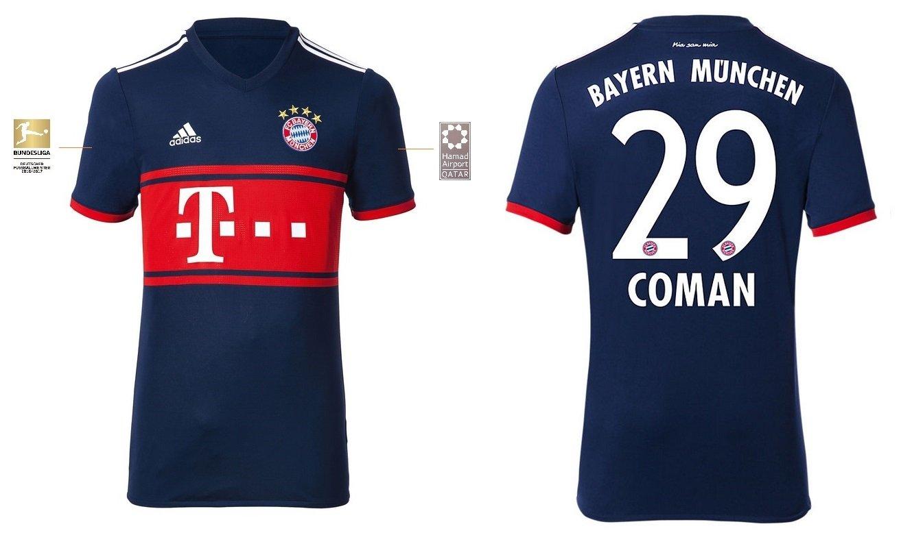 Trikot Kinder FC Bayern 2017-2018 Away BL - Coman 29