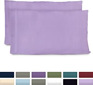 Cosy House Collection Premium Bamboo Pillowcases - King, Lavender Pillow Case Set of 2 - Ultra Soft & Cool Hypoallergenic Blend from Natural Bamboo Fiber